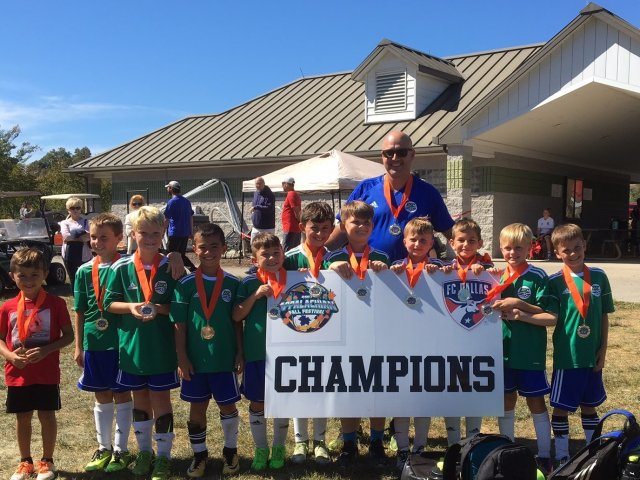 ESC 08 Boys for being Champions at the 2017 FC Dallas TRI Fall Festival Tournament